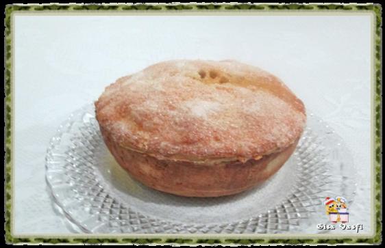 Torta de maçã com guaraná e pudim de baunilha 1