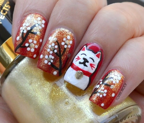 Nail Art Design 2017 For Chinese New Year Hession Hairdressing