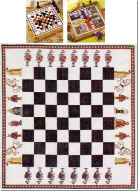 tablero ajedrez punto de cruz (5)