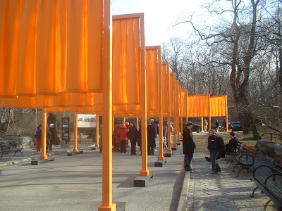 Gates...crowd is around Christo and Jeanne-Claude.