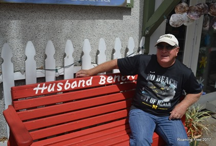 Sitting on the Husband Bench