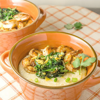 Cajun Shrimp with Cheesy Grits.