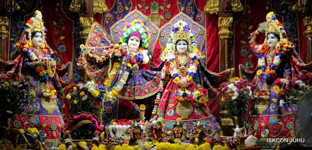 ISKCON Juhu Sringar Deity Darshan 29 Jan 2016 (1)
