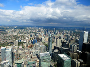 Photo: Toronto -  view to the north from CN Tower