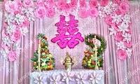 trang trí bàn thờ gia tiên ngày cưới