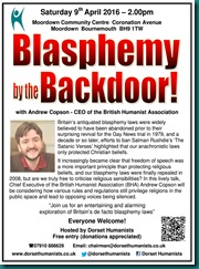 Blasphemy by the Backdoor 09 April 2016