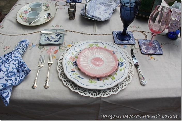 Pink and Blue Tablescape