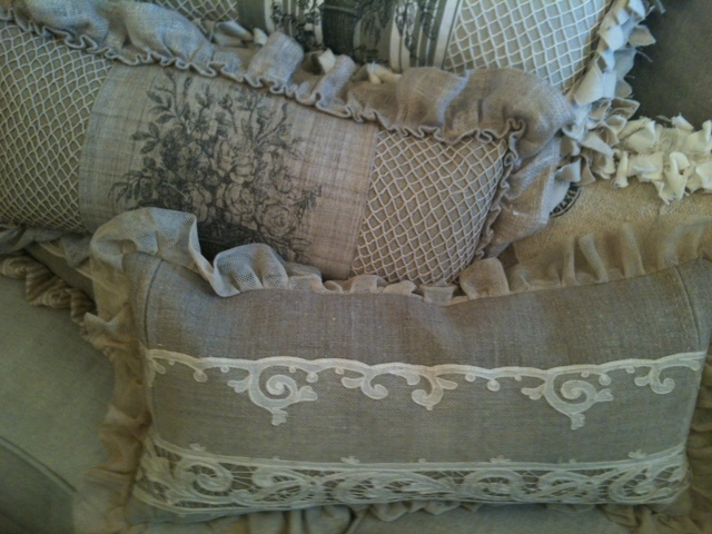 Sweet Magnolia Diaries New Delivery Of French Grain Sack Pillows