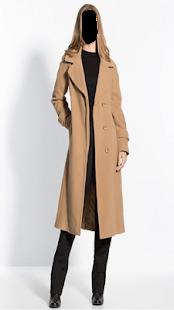 Popular Long Coat Fashion Photo Montage - náhled