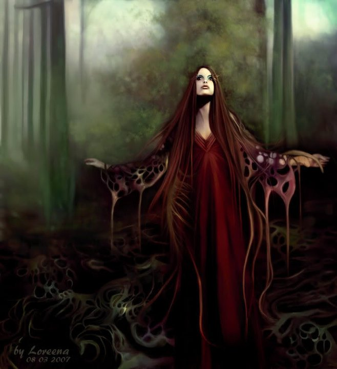Magic Ritual In The Forest, Magic And Spells