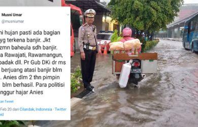 Dikepung Banjir, Rektor UIC Tetap Bela Anies Baswedan