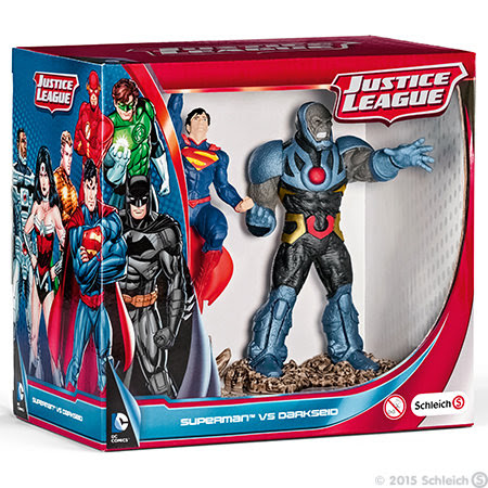 Contenido de Schleich® 22509 Scenery Pack Superman vs Darkseid