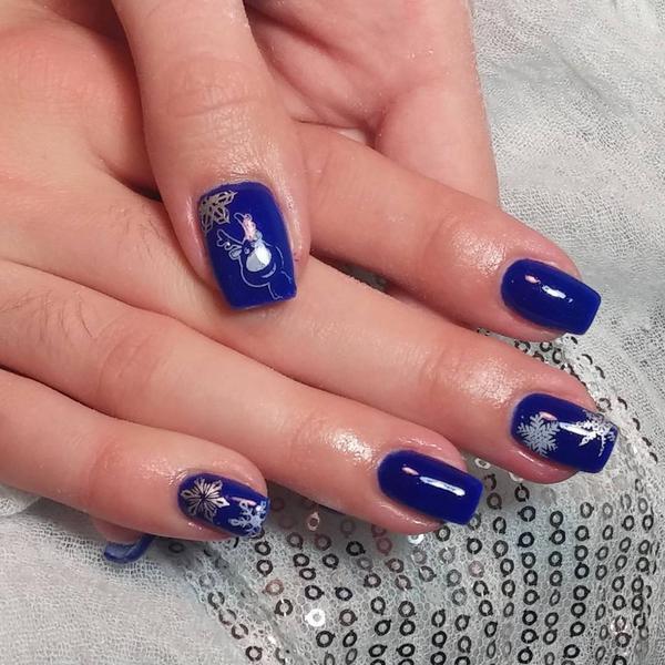 Attractive Royal Blue Nail Art Designs 2017 Styles - Styles Art