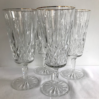 Waterford Crystal Lismore Tall Iced Beverage Glasses, Set of 4