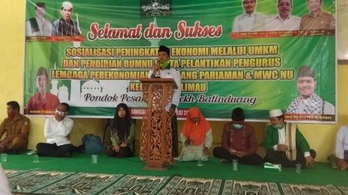 Foto Zainal Tuanku Mudo. Sudah Selayaknya Pemda Memberikan Perhatian ke NU dalam Berkidmat untuk Umat.