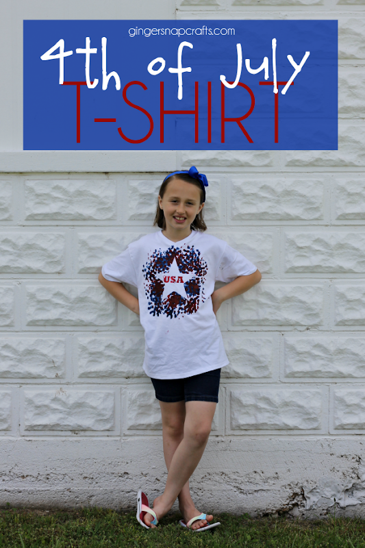4th of July T-Shirt Tutorial at GingerSnapCrafts.com