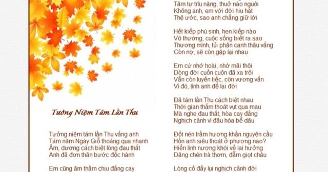 Blog TRĂNG VIỄN XỨ ( HOÀNG ÁNH NGUYỆT): TƯỞNG NIỆM TÁM LẦN THU - THƠ HOÀNG  ÁNH NGUYỆT