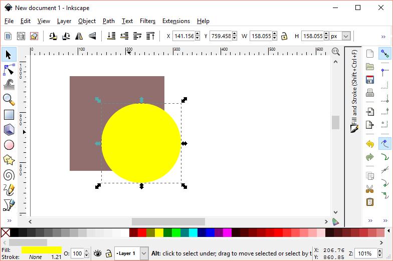 arrange object inkscape