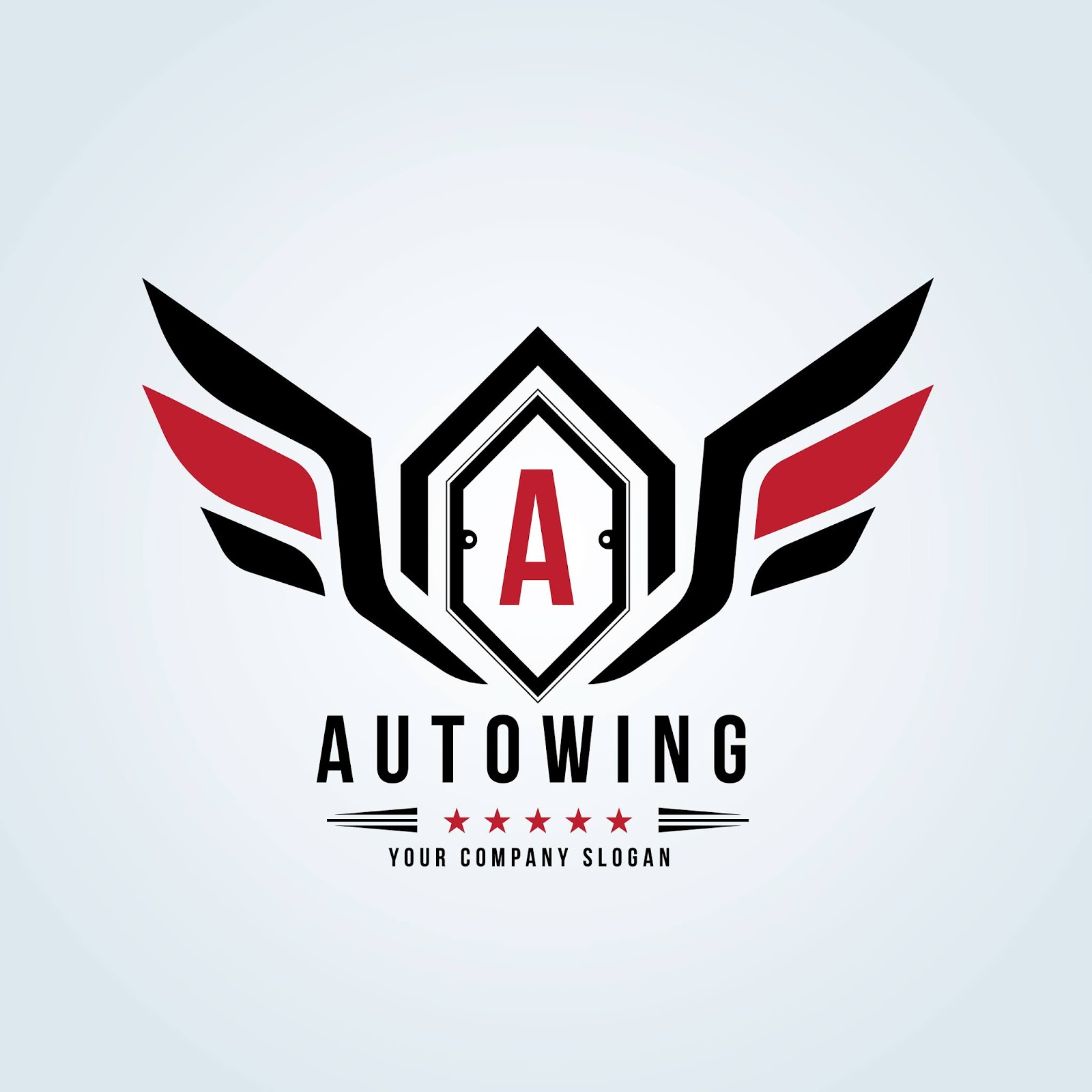 Car Automotive Logo With Eagle Wing Symbol Logo	 Free Download Vector CDR, AI, EPS and PNG Formats
