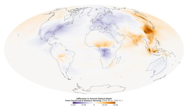 La tendencia de la contaminación atmosférica del Planeta