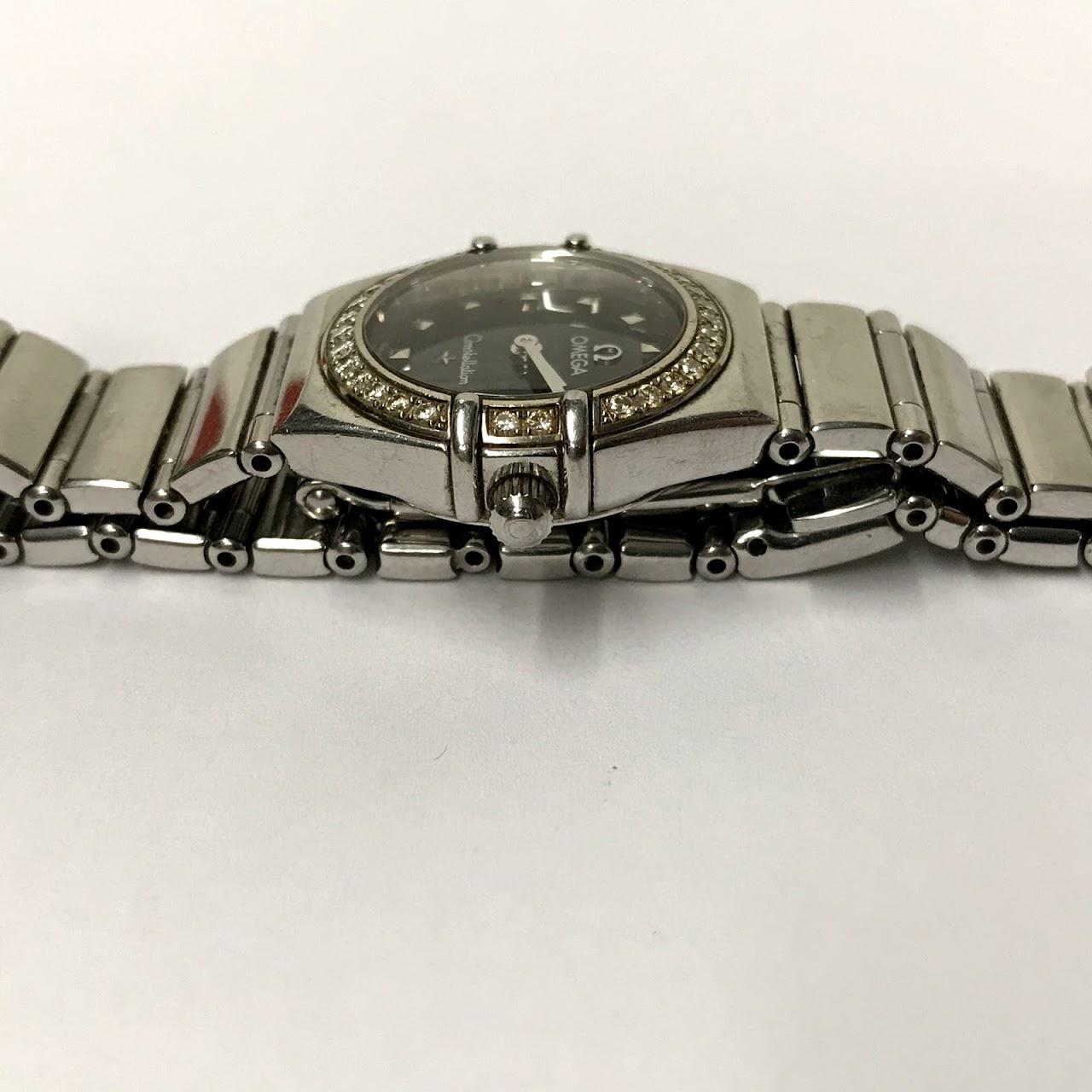 Omega Constellation Diamond & Steel Watch