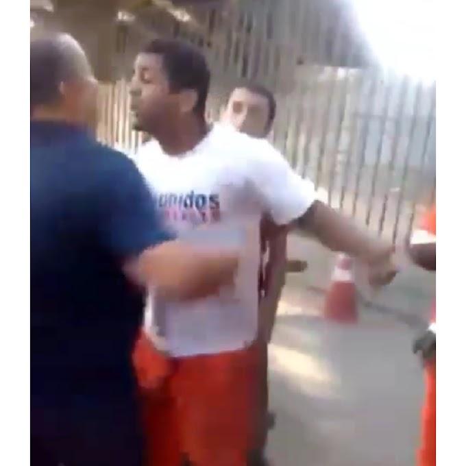 Funcionário do prefeito Eduardo Paes chama um gari de vagabund...: Veja o video
