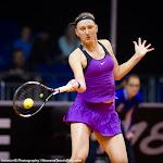 STUTTGART, GERMANY - APRIL 16 : Tereza Smitkova in action at the 2016 Porsche Tennis Grand Prix
