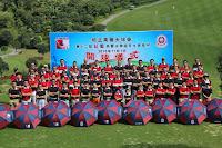 2015 - 11 - 07 在東莞舉行紅藍高爾夫球誼日,近八十人參加,包括大約三十位在校同學 (考你眼力:基社陳樹豪、忻尚永、關溢康、與黃瑞源參與盛事)