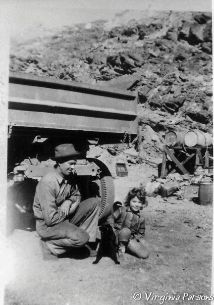 Michael Joseph Harris and Virginia Parsons at the King Midas Mine, 1952. Courtesy of Virginia Parsons.