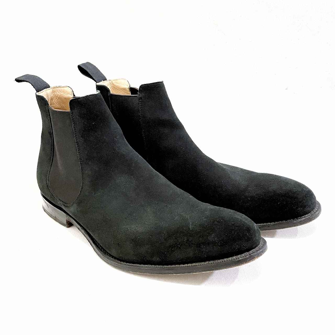 Church's Black Suede Chelsea Boots