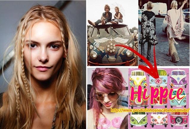 cabelo de Hippie