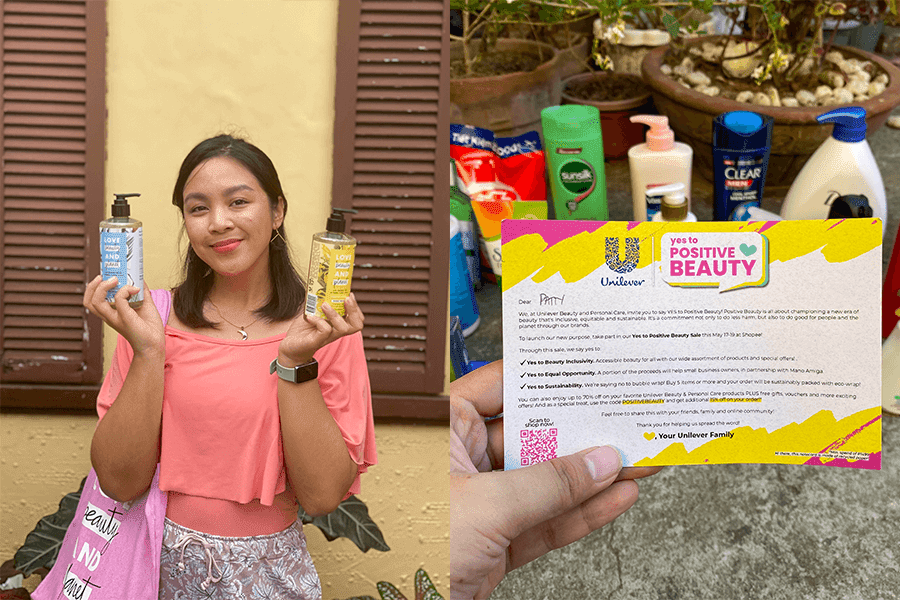 Patty Villegas - The Lifestyle Wanderer -  Unilever - Yes to Positive Beauty Sale - Shopee - Dove - Ponds - Love Beauty and Planet - St Ives - Tresemme-title