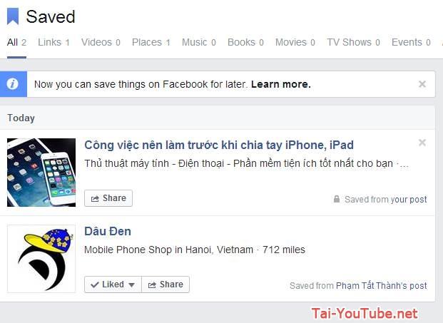 Cách lưu nội dung Facebook để đọc sau với Facebook Save - Hình demo 5