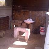 inside a Botswana barbar shop