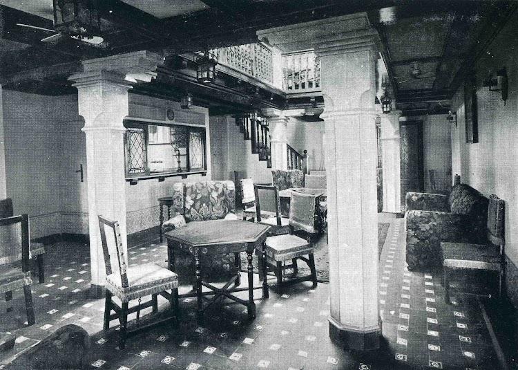 MAGALLANES. Salón fumador de Primera Clase. Libro Obras. S.E. de C.N. 1928.jpg