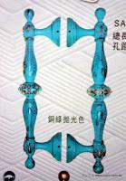 裝潢五金 品名:SA88-古典大把手 規格:279m/m 孔距:195m/m 材質:銅製品 顏色:銅綠拋光色 玖品五金