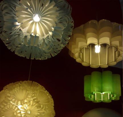 Innovative Lampshades Made From Recycled Cola Bottles By
