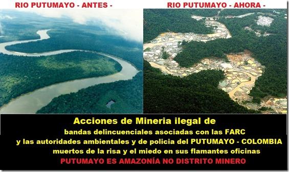 08 Rio Putumayo antes y después de minería ilegal