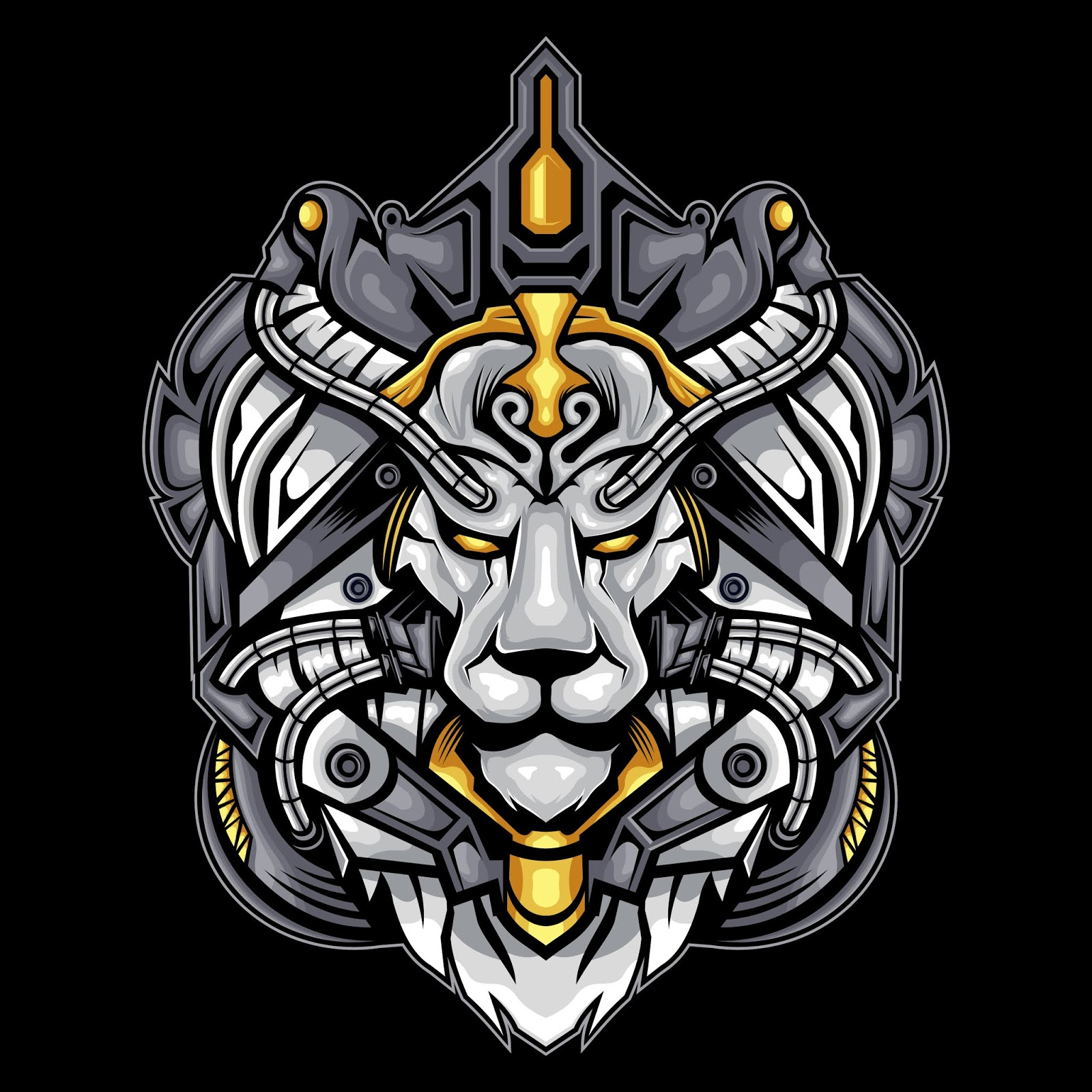 White Lion Face Free Download Vector CDR, AI, EPS and PNG Formats