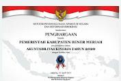 Pemkab Bener Meriah Raih Predikat B Hasil Evaluasi SAKIP RB AWARD 2020