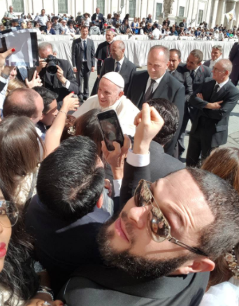 Alex Mascot, the famous former Local Government Chairman in Abia State meets Pope Francis in Rome
