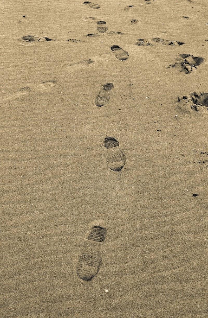 Impronte sulla spiaggia  di Marina_Dossi