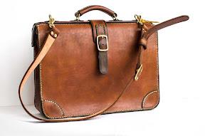 Кожаный портфель ручной работы art S3 № 157 // S3