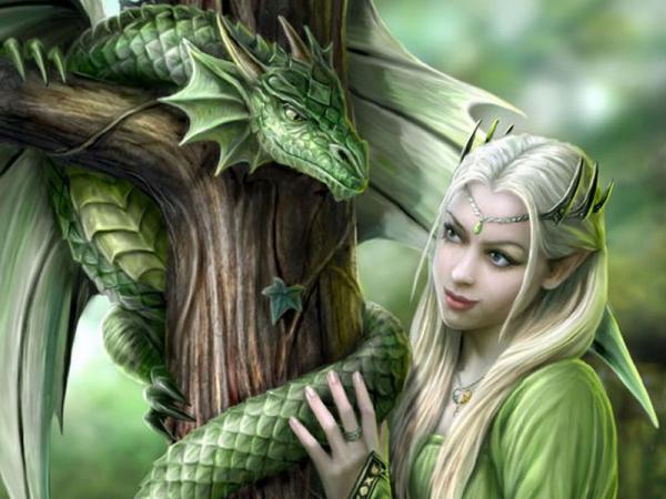Elven Princess And Green Snake, Spirit Companion 4