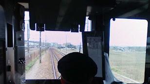 東海道線運転席
