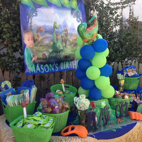 Good Dinosaur 4th Birthday Neighborhood Kids
