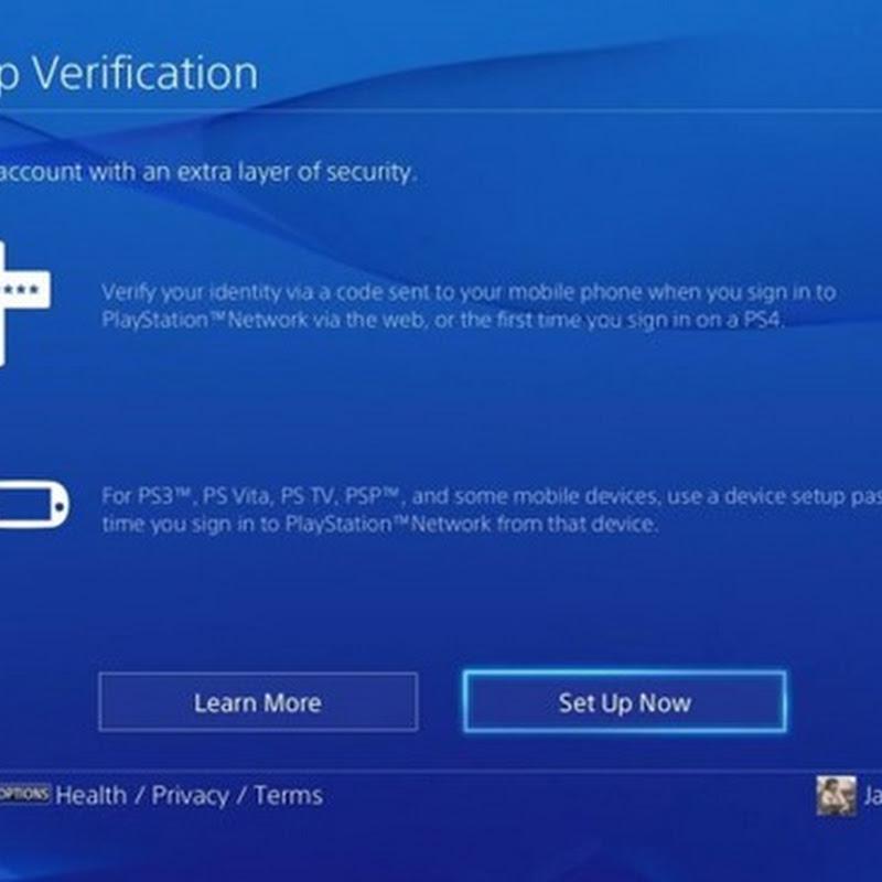 Sie sollten auf Ihrer PlayStation sofort die Two-Step Verification einstellen