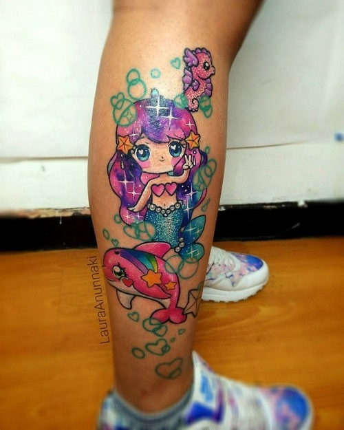 este_doce_sereia_kawaii_tatuagem