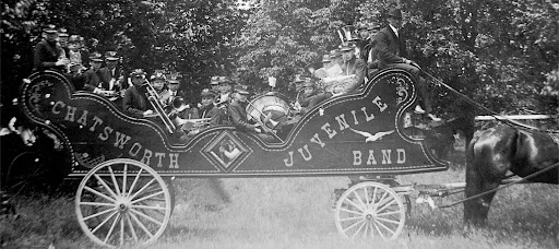 Doud's Chatsworth Juvenile Band Year unknown Contributed by Barbara Youngers, granddaughter of Philip Wagner who was a member of the band.