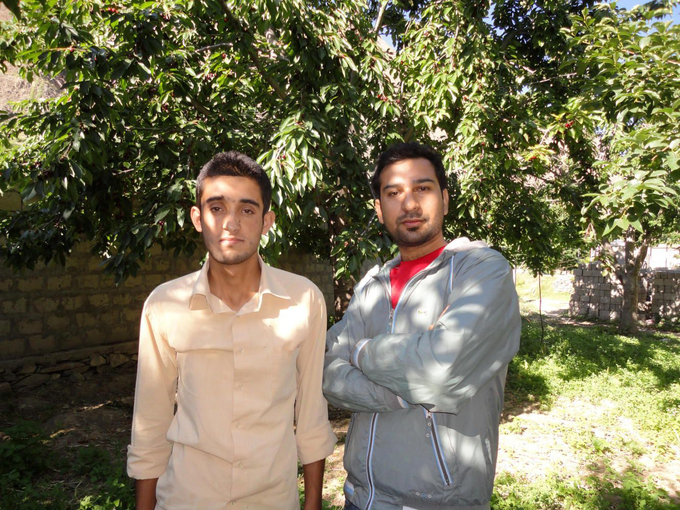 Mr. Abbas invited us to his garden, Gulmit, Nagar